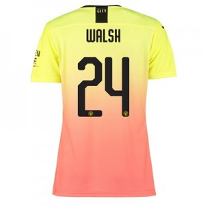 Manchester City Authentic Cup Third Shirt 2019-20 - Womens with Walsh 24 printing