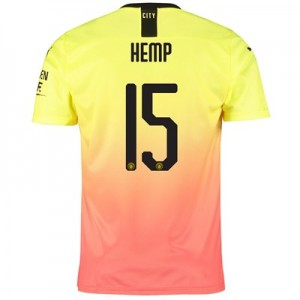 Manchester City Cup Third Shirt 2019-20 with Hemp 15 printing