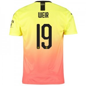 Manchester City Cup Third Shirt 2019-20 with Weir 19 printing