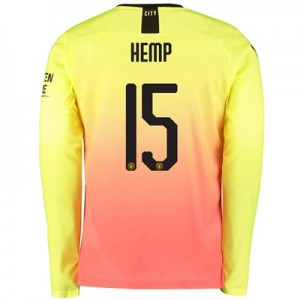 Manchester City Cup Third Shirt 2019-20 - Long Sleeve with Hemp 15 printing