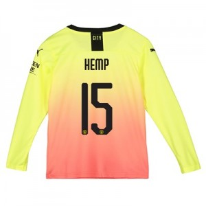 Manchester City Cup Third Shirt 2019-20 - Long Sleeve - Kids with Hemp 15 printing