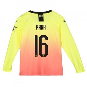Manchester City Cup Third Shirt 2019-20 - Long Sleeve - Kids with Park 16 printing