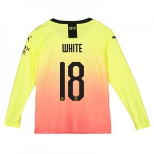 Manchester City Cup Third Shirt 2019-20 - Long Sleeve - Kids with White 18 printing