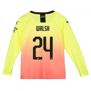 Manchester City Cup Third Shirt 2019-20 - Long Sleeve - Kids with Walsh 24 printing