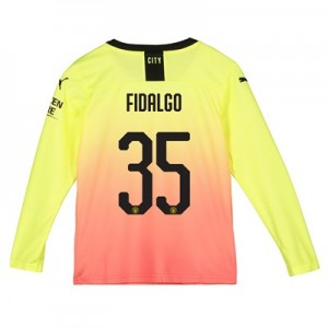 Manchester City Cup Third Shirt 2019-20 - Long Sleeve - Kids with Fidalgo 35 printing