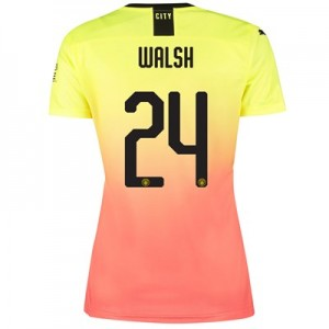 Manchester City Cup Third Shirt 2019-20 - Womens with Walsh 24 printing
