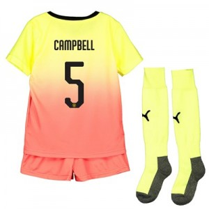 Manchester City Cup Third Mini Kit 2019-20 with Campbell 5 printing