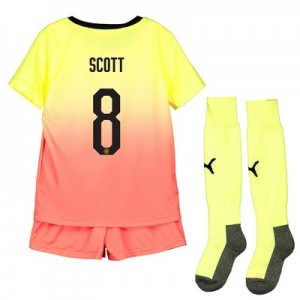 Manchester City Cup Third Mini Kit 2019-20 with Scott 8 printing