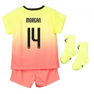 Manchester City Cup Third Baby Kit 2019-20 with Morgan 14 printing