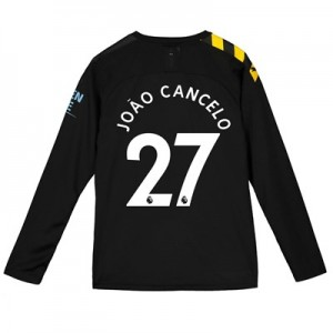 Manchester City Away Shirt 2019-20 - Long Sleeve - Kids with João Cancelo 27 printing