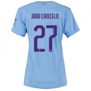 Manchester City Authentic Cup Home Shirt 2019-20 - Womens with João Cancelo 27 printing