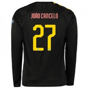 Manchester City Cup Away Shirt 2019-20 - Long Sleeve with João Cancelo 27 printing