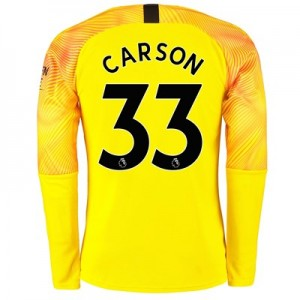 Manchester City Third Goalkeeper Shirt 2019-20 with Carson 33 printing