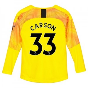 Manchester City Third Goalkeeper Shirt 2019-20 - Kids with Carson 33 printing
