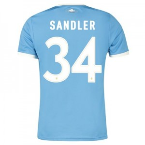 Manchester City 125 Year Anniversary Shirt with Sandler 34 printing