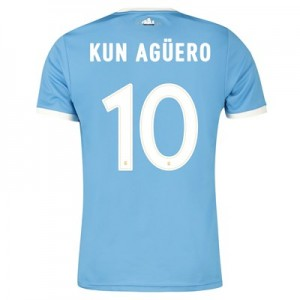 Manchester City 125 Year Anniversary Shirt with Kun Agüero  10 printing