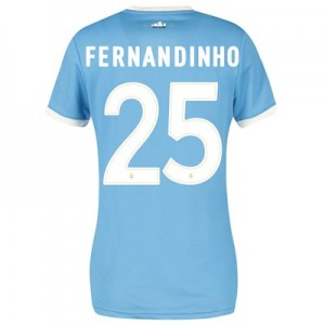 Manchester City 125 Year Anniversary Shirt - Womens with Fernandinho 25 printing