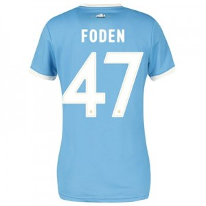 Manchester City 125 Year Anniversary Shirt - Womens with Foden 47 printing
