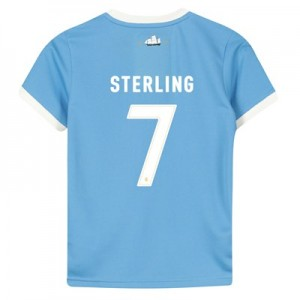 Manchester City 125 Year Anniversary Shirt - Kids with Sterling 7 printing