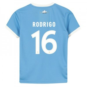 Manchester City 125 Year Anniversary Shirt - Kids with Rodrigo 16 printing