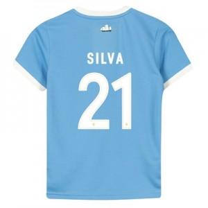Manchester City 125 Year Anniversary Shirt - Kids with Silva 21 printing