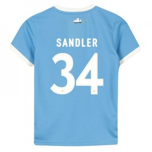 Manchester City 125 Year Anniversary Shirt - Kids with Sandler 34 printing