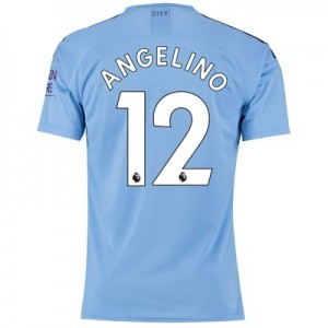 Manchester City Authentic Home Shirt 2019-20 with Angelino 12 printing