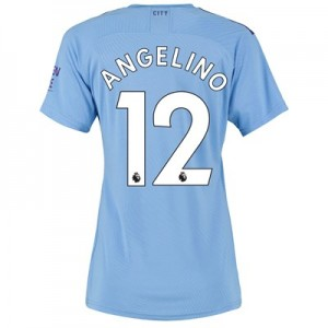 Manchester City Authentic Home Shirt 2019-20 - Womens with Angelino 12 printing