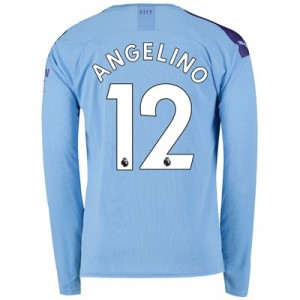 Manchester City Home Shirt 2019-20 - Long Sleeve with Angelino 12 printing