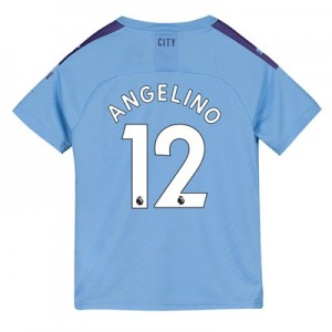Manchester City Home Shirt 2019-20 - Kids with Angelino 12 printing
