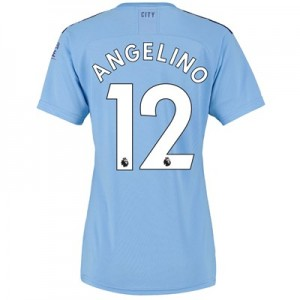 Manchester City Home Shirt 2019-20 - Womens with Angelino 12 printing