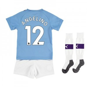 Manchester City Home Mini Kit 2019-20 with Angelino 12 printing