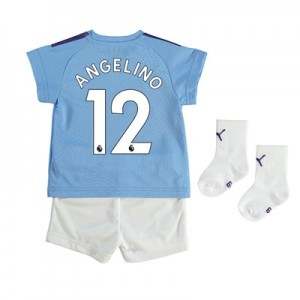 Manchester City Home Baby Kit 2019-20 with Angelino 12 printing