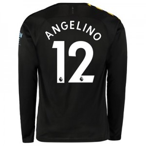 Manchester City Away Shirt 2019-20 - Long Sleeve with Angelino 12 printing