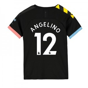 Manchester City Away Shirt 2019-20 - Kids with Angelino 12 printing