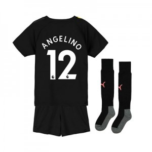 Manchester City Away Mini Kit 2019-20 with Angelino 12 printing
