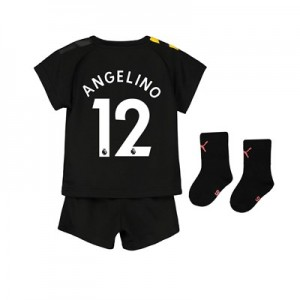 Manchester City Away Baby Kit 2019-20 with Angelino 12 printing