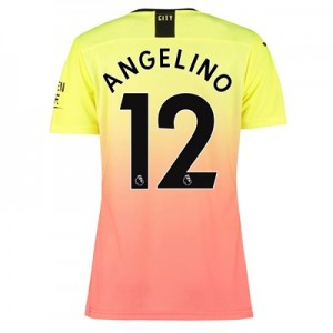 Manchester City Authentic Third Shirt 2019-20 - Womens with Angelino 12 printing