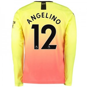 Manchester City Third Shirt 2019-20 - Long Sleeve with Angelino 12 printing