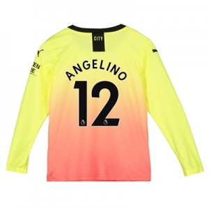 Manchester City Third Shirt 2019-20 - Long Sleeve - Kids with Angelino 12 printing