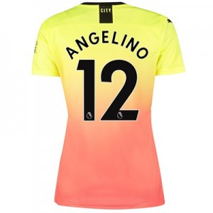 Manchester City Third Shirt 2019-20 - Womens with Angelino 12 printing