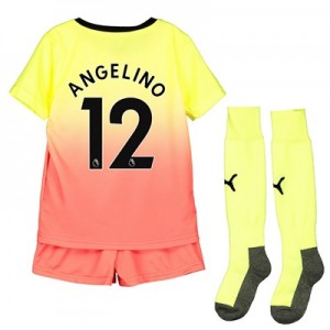 Manchester City Third Mini Kit 2019-20 with Angelino 12 printing