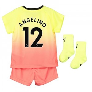 Manchester City Third Baby Kit 2019-20 with Angelino 12 printing