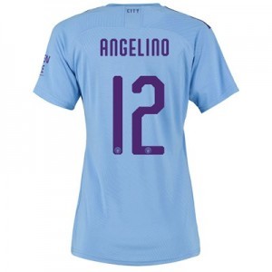 Manchester City Authentic Cup Home Shirt 2019-20 - Womens with Angelino 12 printing