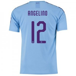 Manchester City Cup Home Shirt 2019-20 with Angelino 12 printing