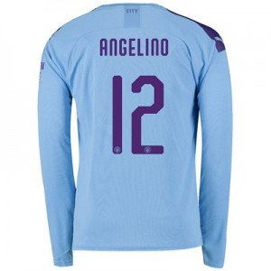 Manchester City Cup Home Shirt 2019-20 - Long Sleeve with Angelino 12 printing