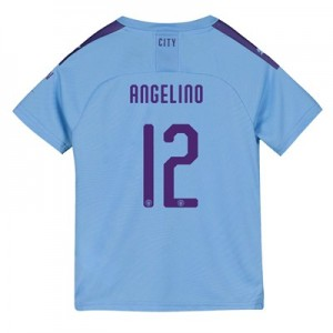 Manchester City Cup Home Shirt 2019-20 - Kids with Angelino 12 printing