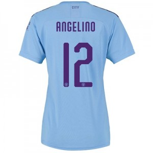 Manchester City Cup Home Shirt 2019-20 - Womens with Angelino 12 printing