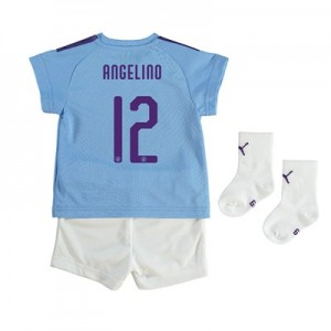 Manchester City Cup Home Baby Kit 2019-20 with Angelino 12 printing