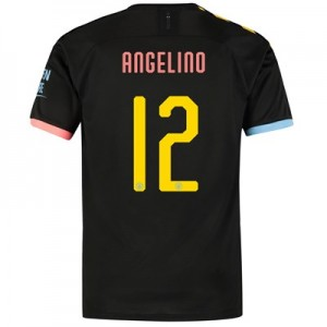 Manchester City Cup Authentic Away Shirt 2019-20 with Angelino 12 printing